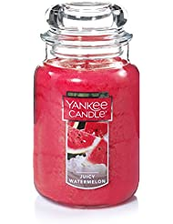Yankee Candle Juicy Watermelon Jar Candle、22-ounce、Large by Yankee Candle