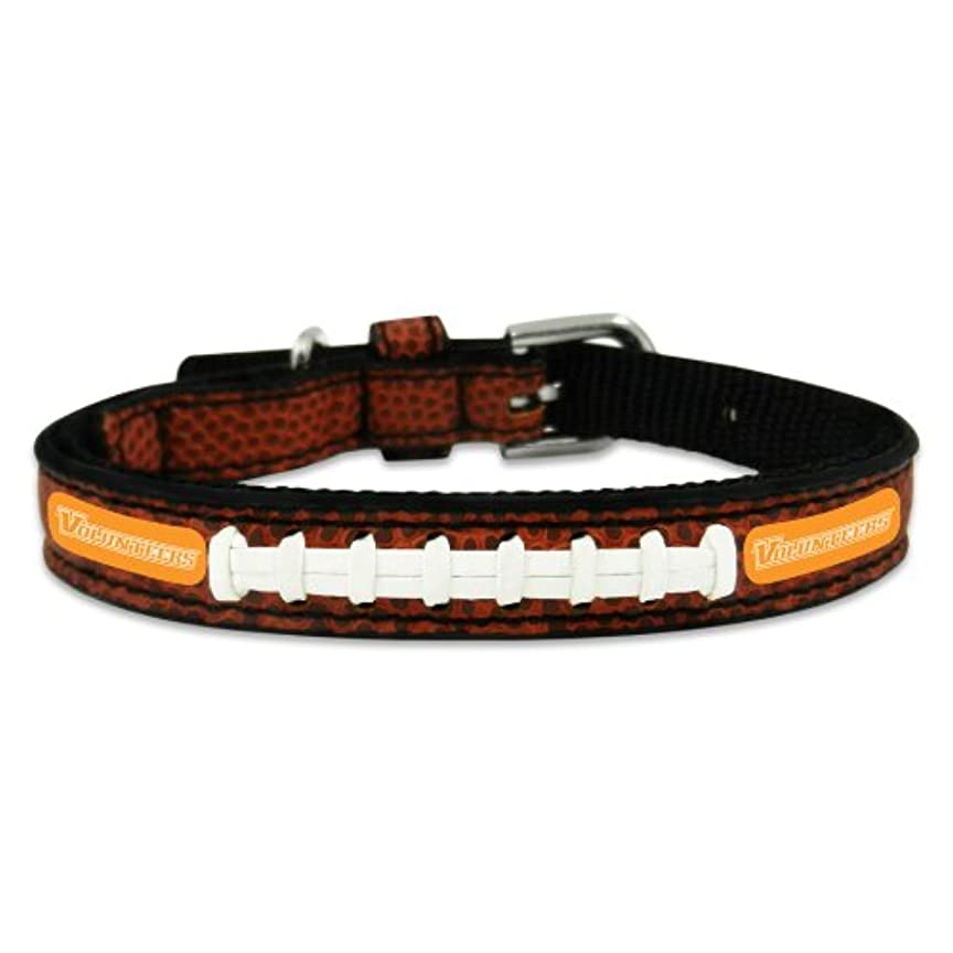 相続人光ゴールドTennessee Volunteers Classic Leather Toy Football Collar
