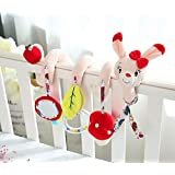 LinZhe Baby Prams Stroller Bed Spiral Activity Hanging Toys-cat