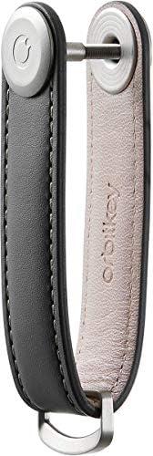 Premium Leather Orbitkey 2.0 (Charcoal with Grey Stitching)