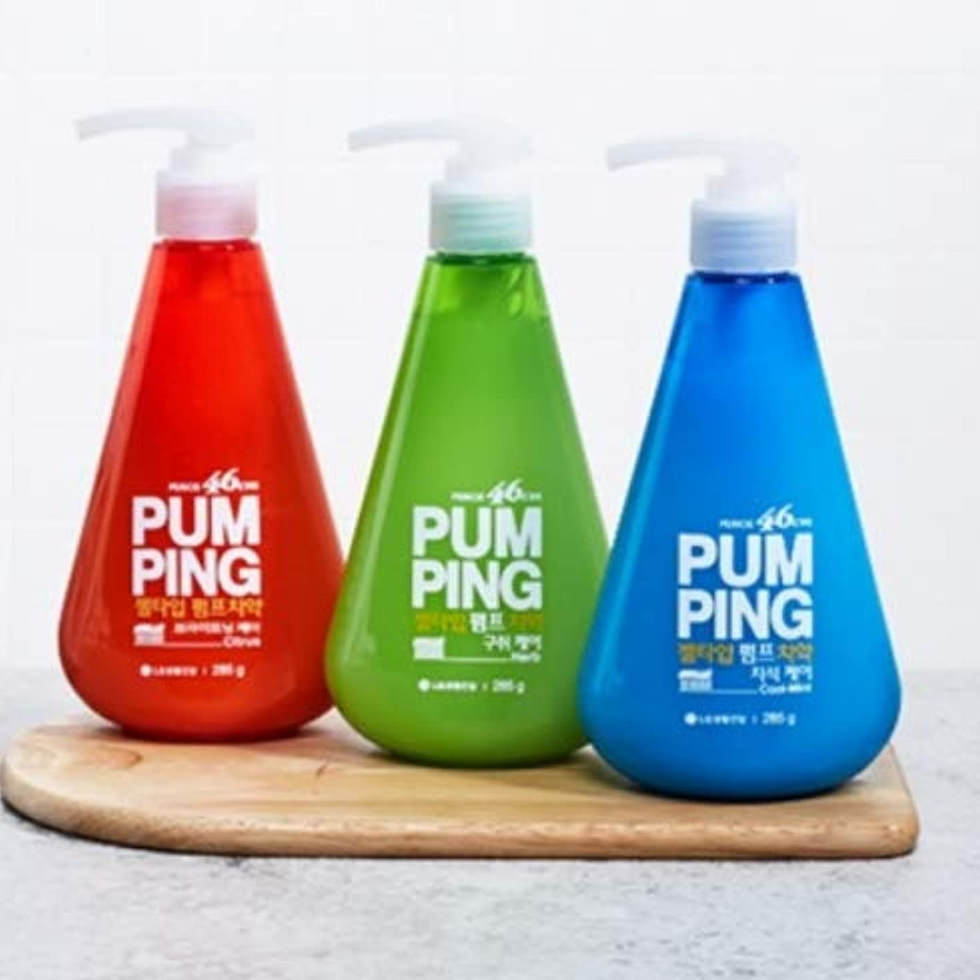 不倫調子キャラバン[LG HnB] Perio 46cm pumped toothpaste /ペリオ46cmポンピング歯磨き粉 285gx3個(海外直送品)