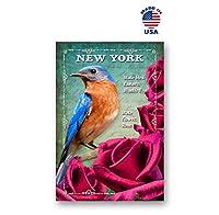 ニューヨーク 鳥と花 ポストカード 20枚セット 同一のポストカード ニューヨーク州シンボルポストカード アメリカ製。