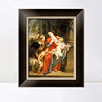 """INVIN ART Framed Canvas Art Giclee Print Series#044 by Peter Paul Rubens Wall Art Living Room Home Office Decorations(Vintage Brown Frame with Linen Liner,28""""x40"""")"""