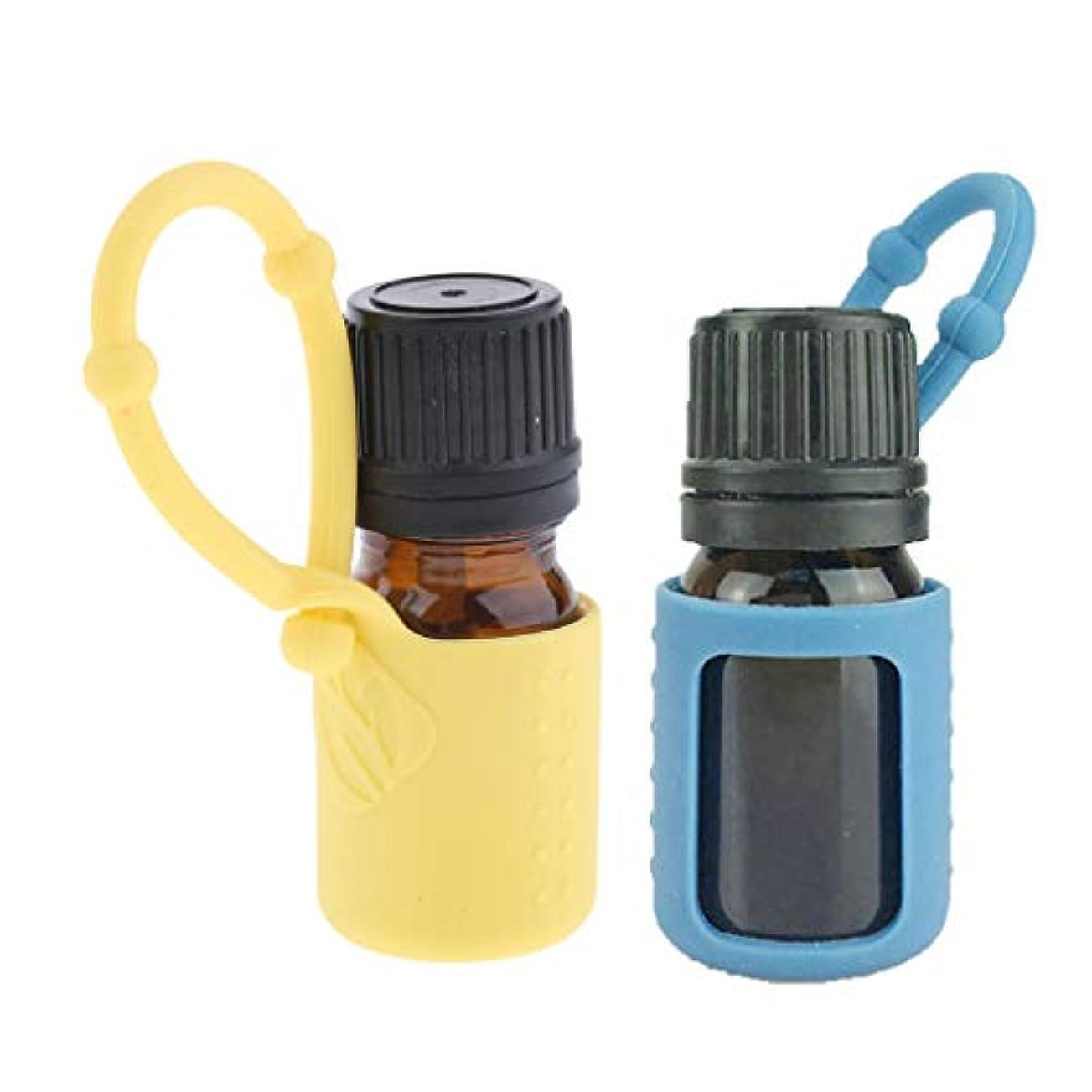 概念膨張するジョセフバンクスdailymall 詰め替え エッセンシャルボトル 5ml 精油 液体 保存容器 シリコンスリーブ付 携帯便利 2個入