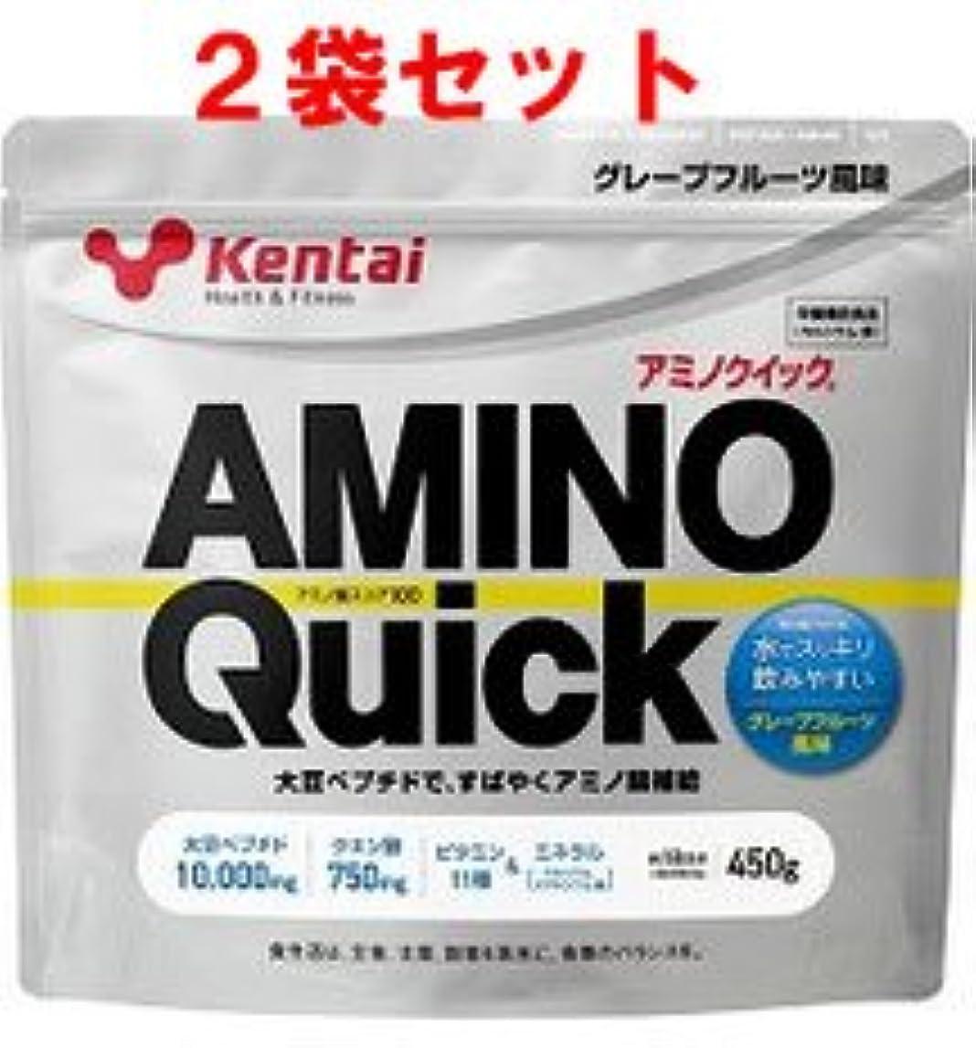 確立従事する拾う【ケンタイ】健康体力研究所 アミノクイック450g (2個セット)