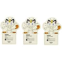 Tonymoly Pokemon Sheet Mask pack(3 Sheets) トニーモリ― ポケットモンスター マスクパック 3枚入り (NAONG (3 Sheets))