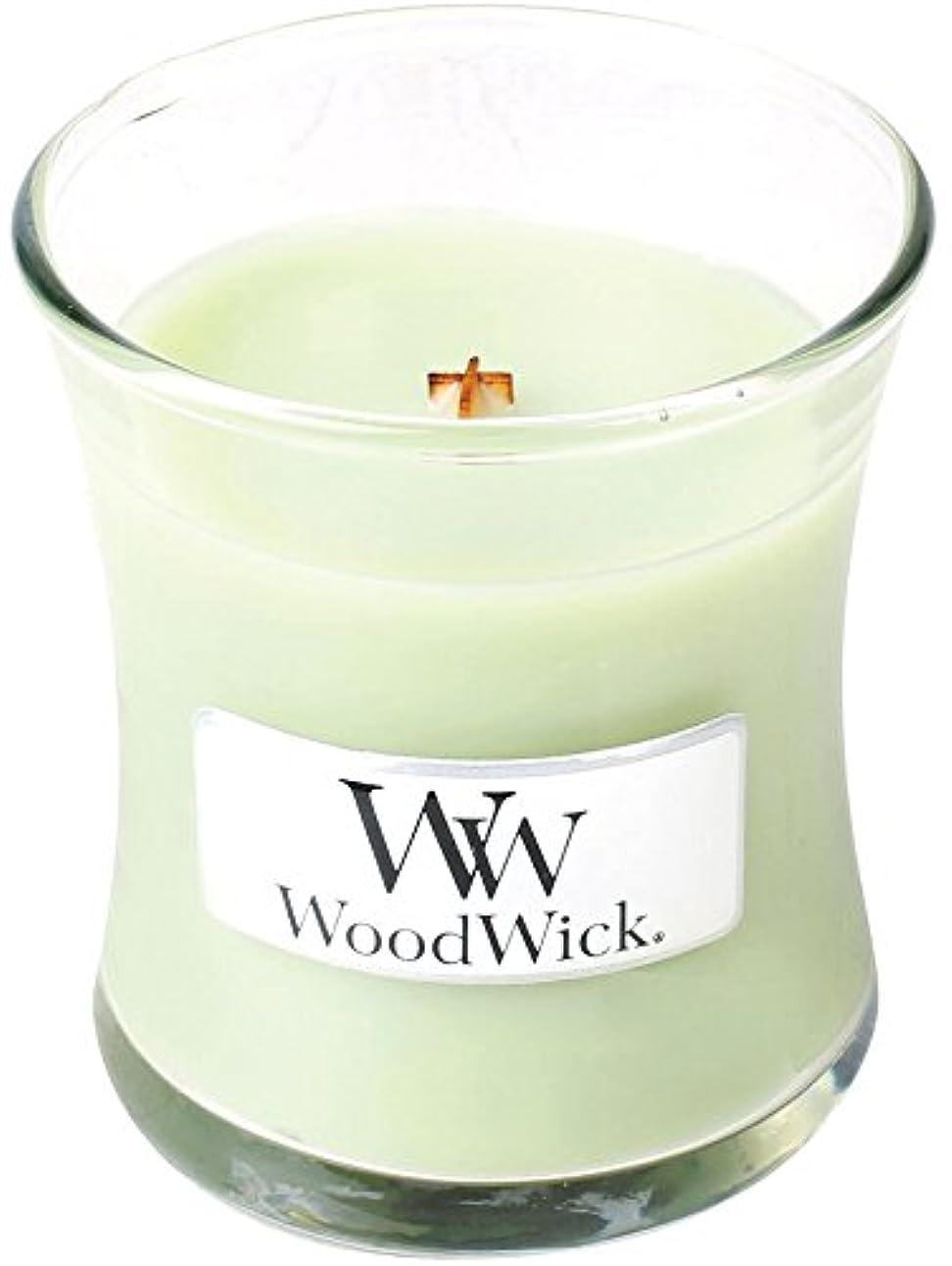 はっきりと校長オークランドWood Wick ウッドウィック ジャーキャンドルSサイズ ライムジェラー