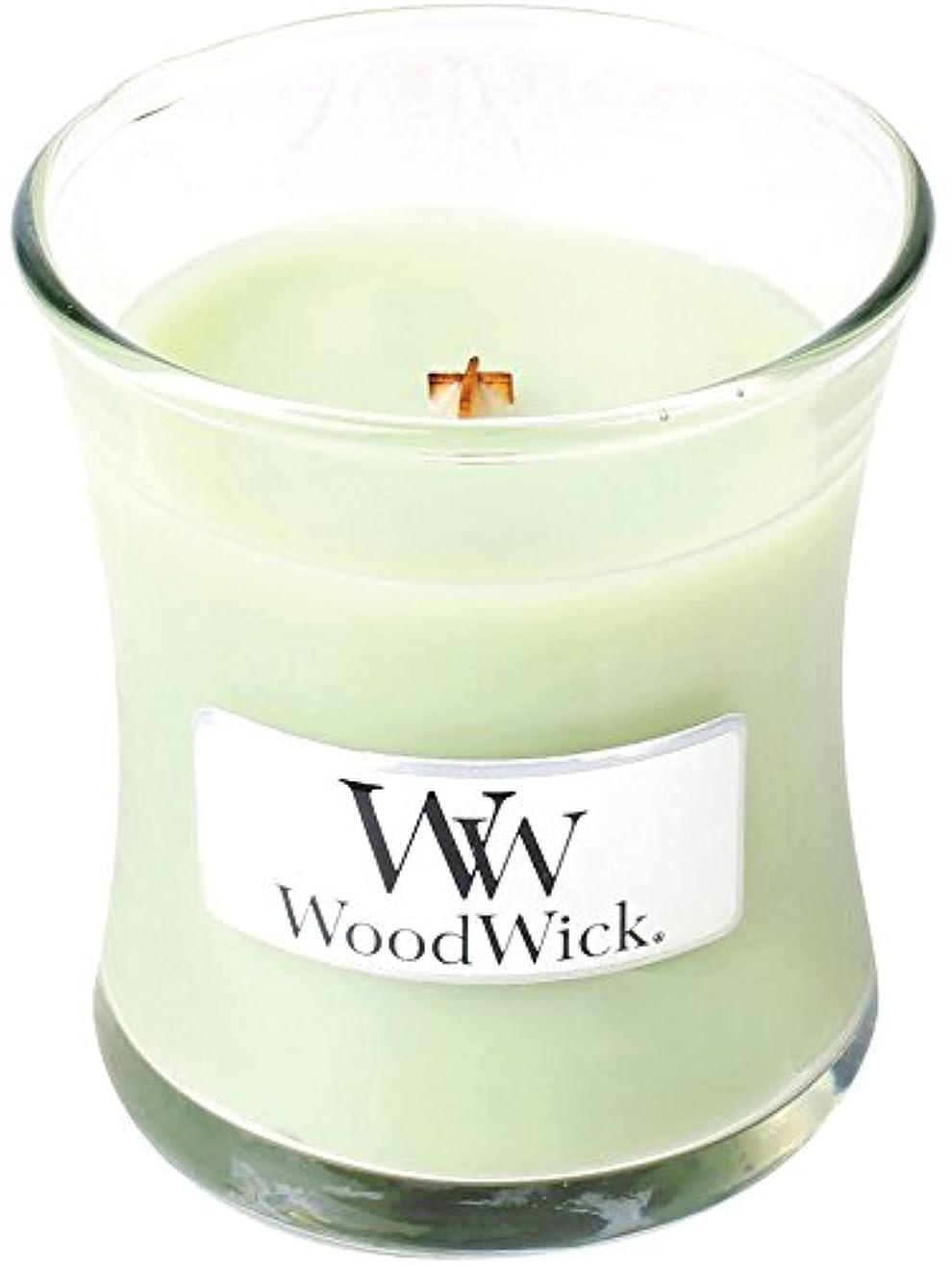 憂鬱克服する成熟Wood Wick ウッドウィック ジャーキャンドルSサイズ ライムジェラー