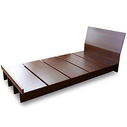 (DORIS) ベッド セミダブル フレームのみ 【コモド セミダブル ブラウン】 ロースタイル フロアベッド