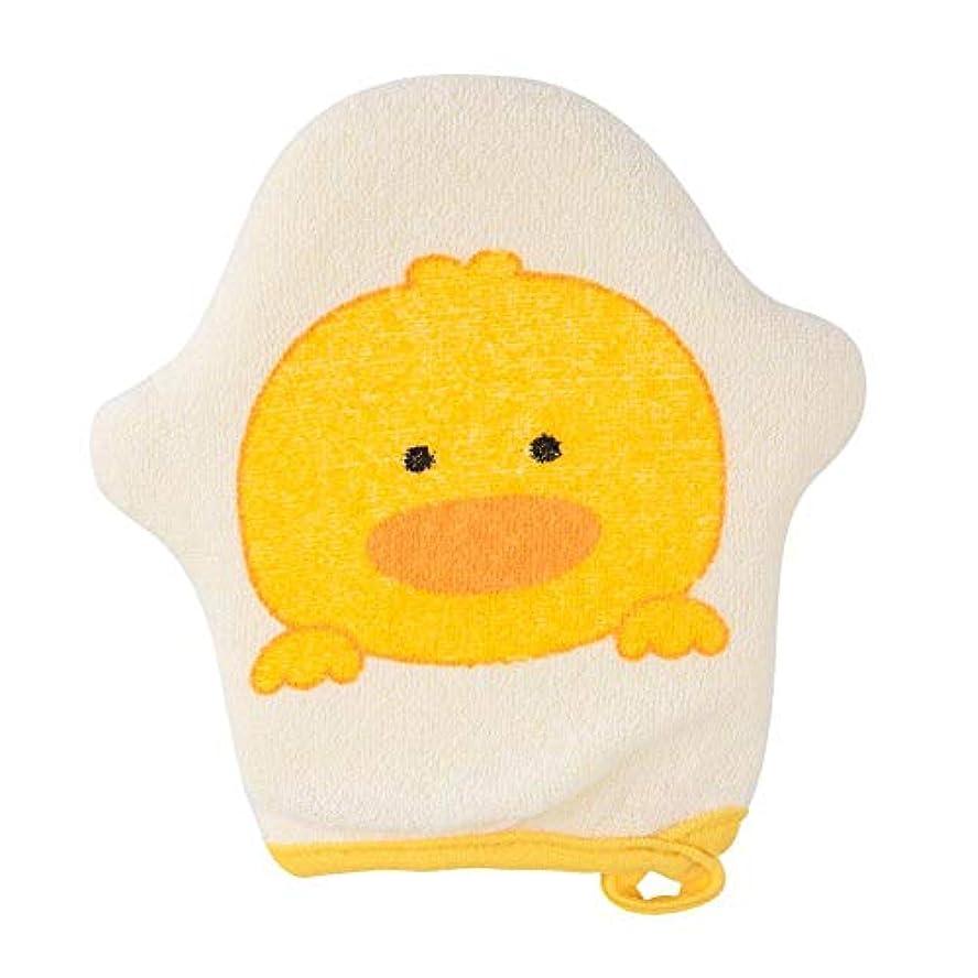 プラカード定数直立シャワースポンジ シャワー手袋 垢すり手袋 ボディースポンジ 浴用手袋 赤ちゃん ベビー 両面用 入浴用 シャワーブラシ 入浴用品 お風呂用 バス用品 柔らかい 動物柄 かわいい オシャレ(イエロー)