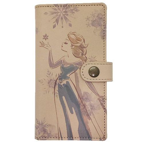 アナと雪の女王 エルサ[本革 ]レザー製手帳型iPhone7...