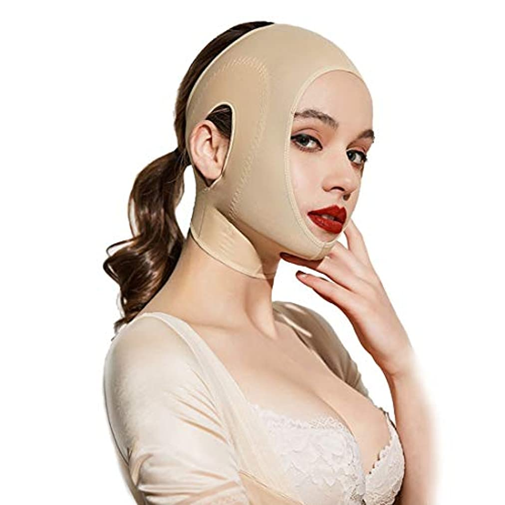 法王残酷なギャップZWBD フェイスマスク, 薄い顔包帯睡眠ステッカー包帯V顔引き締め垂れ顔ダブルあご薄い一口筋肉整形マスク (Size : M)