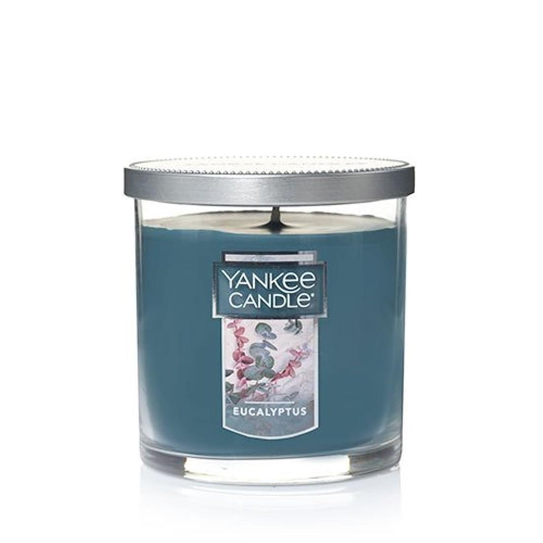 淡いフェンスクリームYankee Candleユーカリ、新鮮な香り Small Single Wick Tumbler Candle グリーン 1185969Z