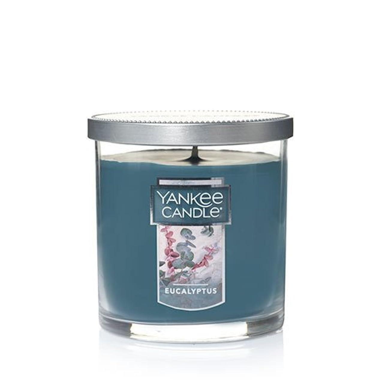 発動機にじみ出る暖炉Yankee Candleユーカリ、新鮮な香り Small Single Wick Tumbler Candle グリーン 1185969Z