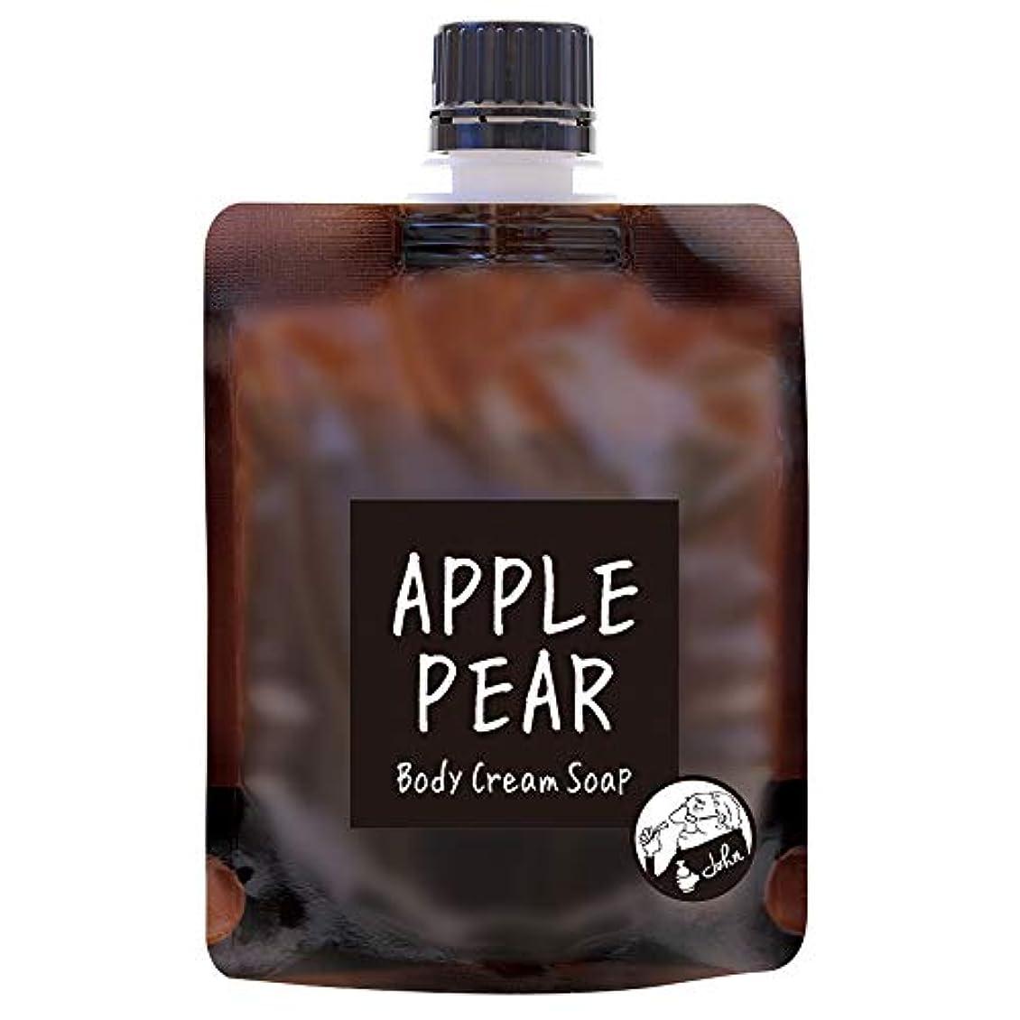 ペチュランス笑い一瞬ノルコーポレーション John's Blend ボディクリームソープ 保湿成分配合 OA-JON-19-4 ボディソープ アップルペアーの香り 100g