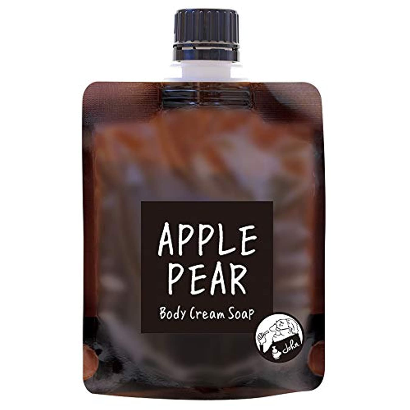 中央値折娘ノルコーポレーション John's Blend ボディクリームソープ 保湿成分配合 OA-JON-19-4 ボディソープ アップルペアーの香り 100g
