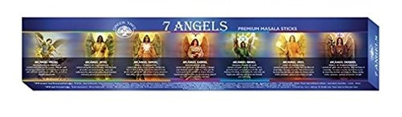 ムスオフセットふりをするGreen Tree 7 Angels Masala Incense 12 Sticks Boxed
