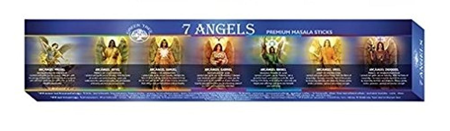 正当なステーキ老人Green Tree 7 Angels Masala Incense 12 Sticks Boxed