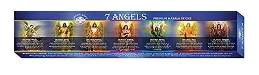 グレードスラッシュ犯罪Green Tree 7 Angels Masala Incense 12 Sticks Boxed