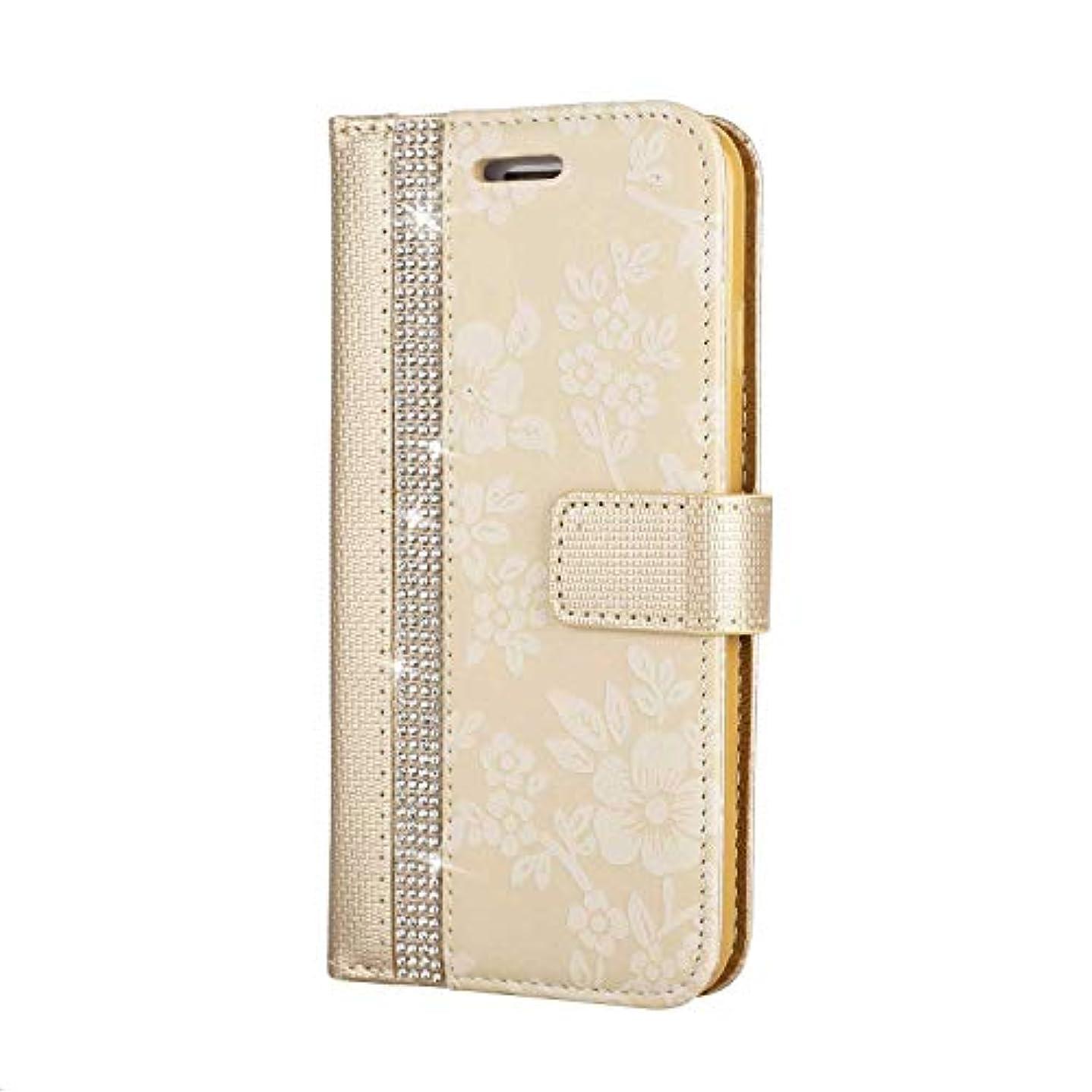 小さい休日助けてCUNUS iPhone 7 / iPhone 8 用 ウォレット ケース, プレミアム PUレザー 全面保護 ケース 耐衝撃 スタンド機能 耐汚れ カード収納 カバー, ゴールド
