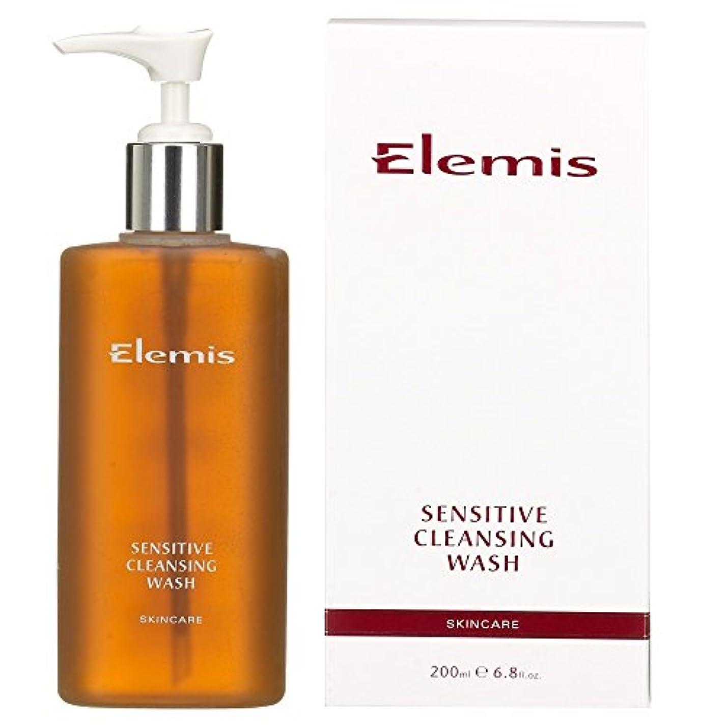 世界記録のギネスブック鍔ヒュームエレミスは敏感クレンジングウォッシュをスキンケア (Elemis) (x6) - Elemis Skincare Sensitive Cleansing Wash (Pack of 6) [並行輸入品]