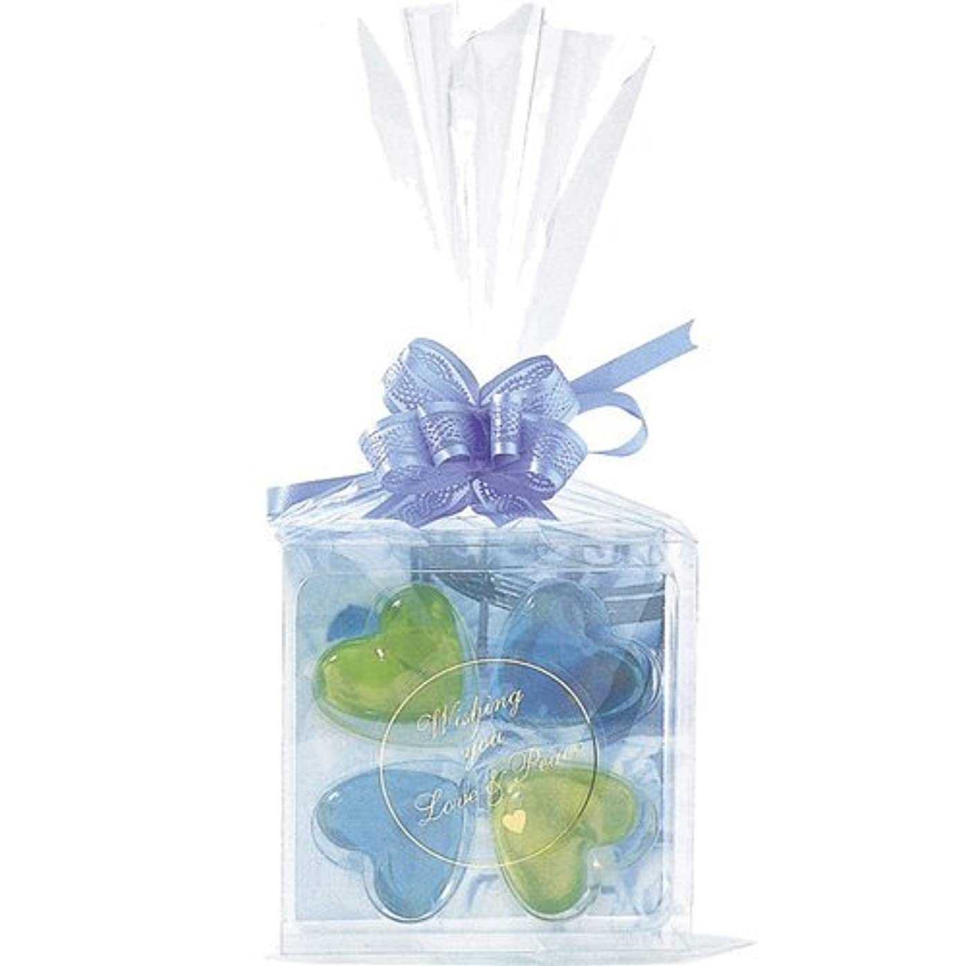 火傷キャンドルナイトスポットジーピークリエイツ フォーチューンクローバー ブルー 入浴料セット(グリーンアップル、ベリー)