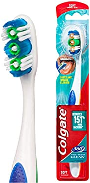 COLGATE 360° Whole Mouth Clean Compact head Toothbrush Soft, Whole Mouth 1 Pack, 360 Soft (3127677)