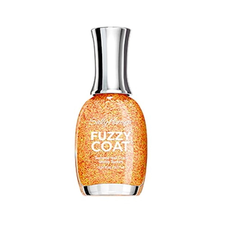 慰め士気強い(6 Pack) SALLY HANSEN Fuzzy Coat Special Effect Textured Nail Color - Peach Fuzz (並行輸入品)