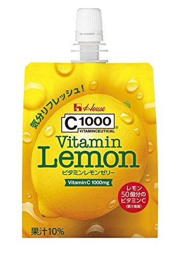 C1000 ビタミンレモンゼリー 180g×24個 ハウスウェルネスフーズ