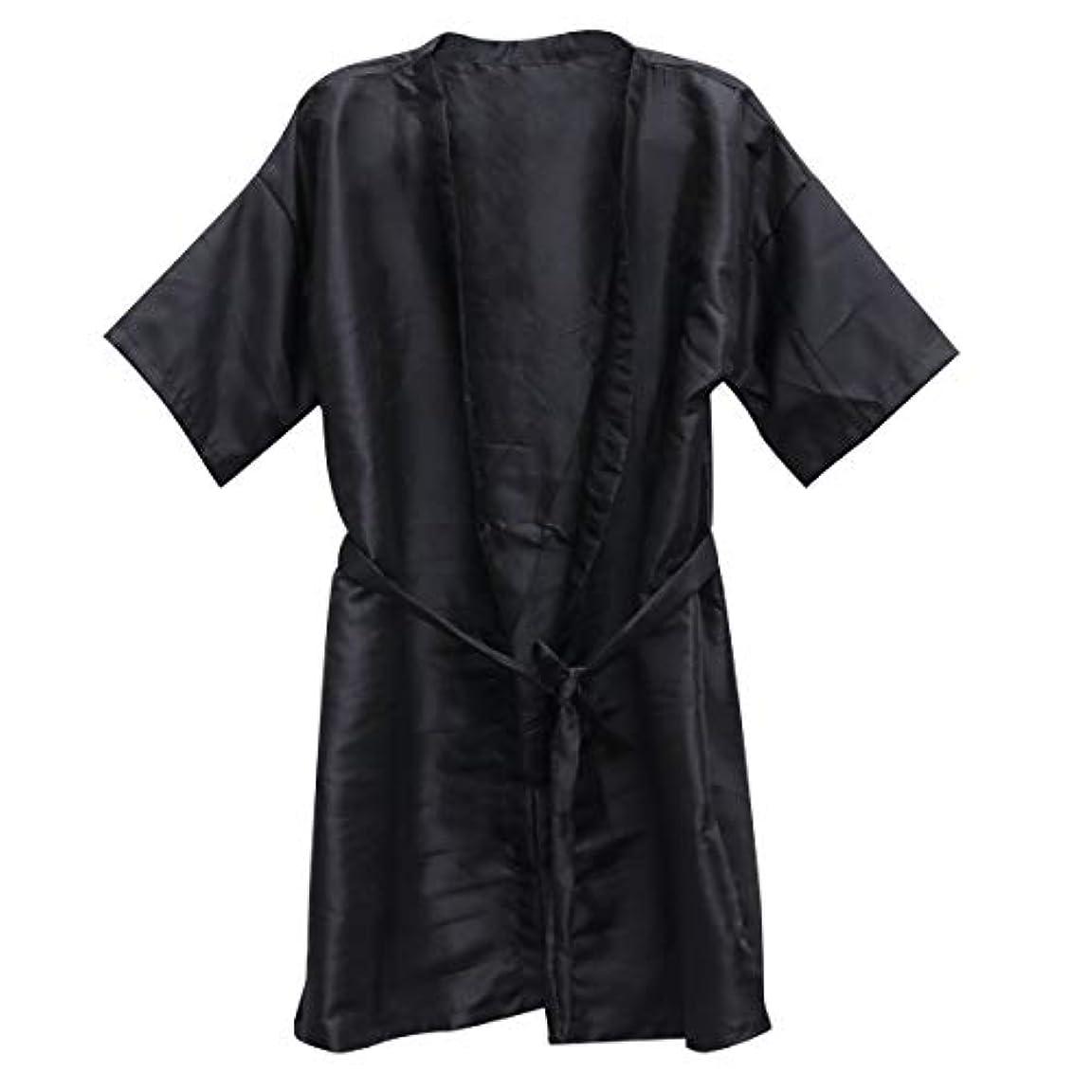 兄弟愛準備したネストFrcolor 美容院ケープ 理髪エプロン ヘア染めスーツ (ブラック)