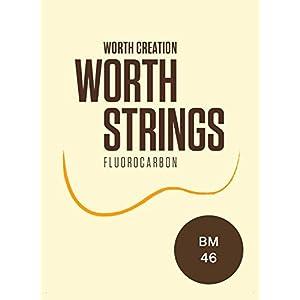 【Worth】 BM ブラウン フロロカーボン弦 セット (ウクレレ用)
