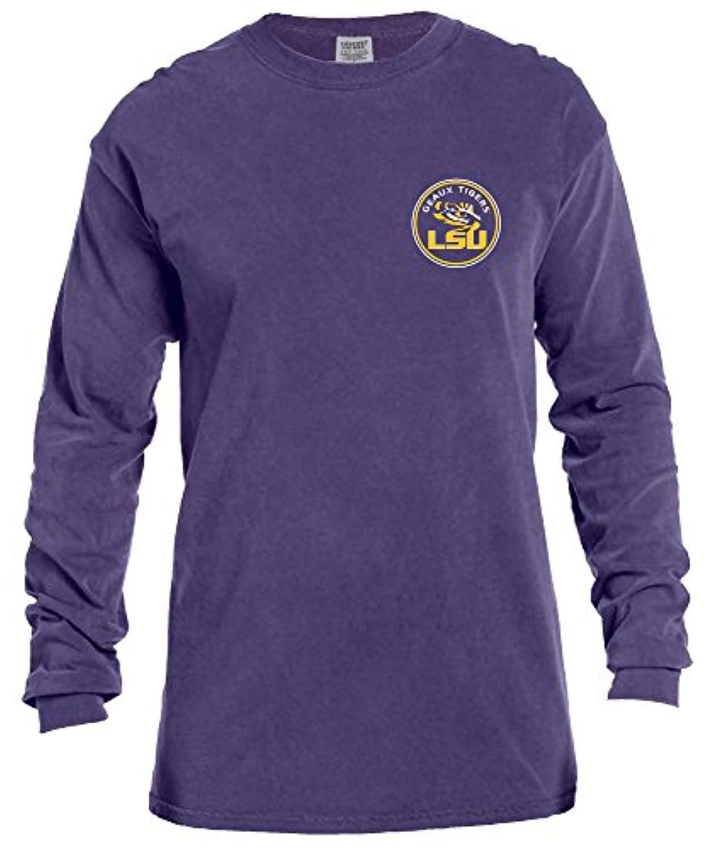 強制的雑種フィドルNCAA ラウンド長袖コンフォートカラーTシャツ