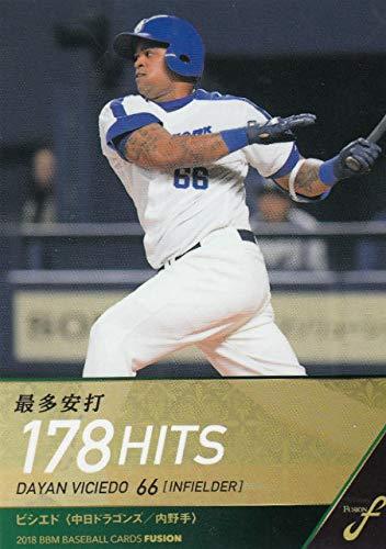 2018 BBM ベースボールカード FUSION 104 最多安打 ビシエド 中日ドラゴンズ (レギュラーカード/タイトルホルダー)