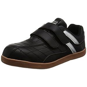 [ヘイギ] 安全靴 セーフティーシューズ マジックタイプ HG-1516M ブラック 25.5 cm