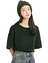 JHIJSC レディース tシャツ 半袖 カットソー 綿 夏 トップス シンプル 無地 ゆったり かわいい 大きいサイズ