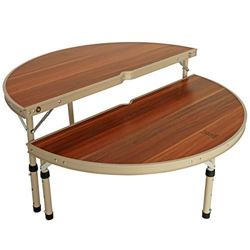 DOD(ディーオーディー) ワンポールテントテーブル ポールを囲んで 簡単設置 ウッド調 折りたたみ式 TB6-487