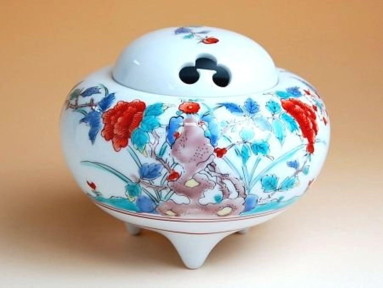 四分円医療の伝導有田焼 錦牡丹 かぶ香炉(木箱付)【サイズ】高さ9.8cm