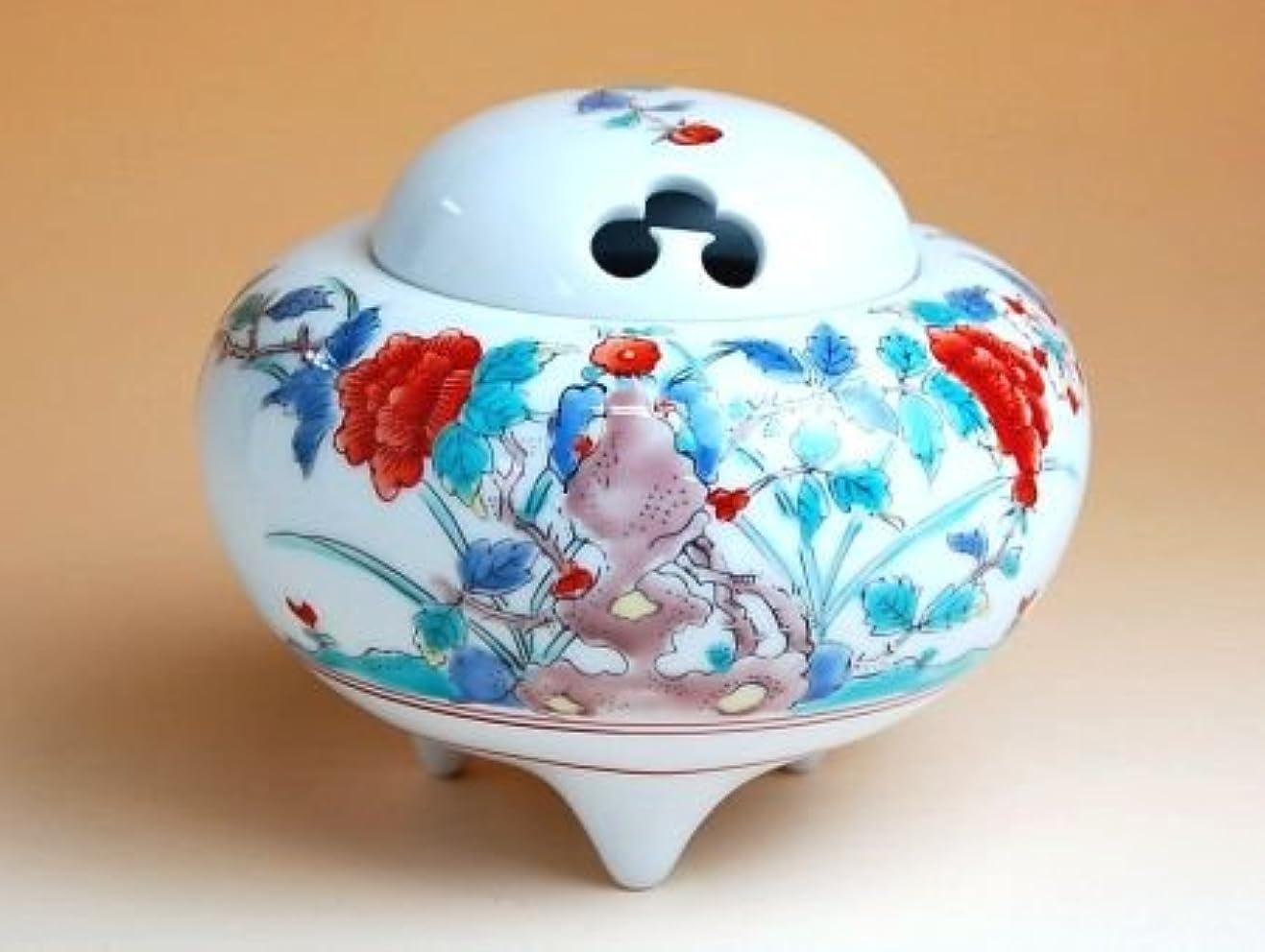 クモ寝具敬意有田焼 錦牡丹 かぶ香炉(木箱付)【サイズ】高さ9.8cm