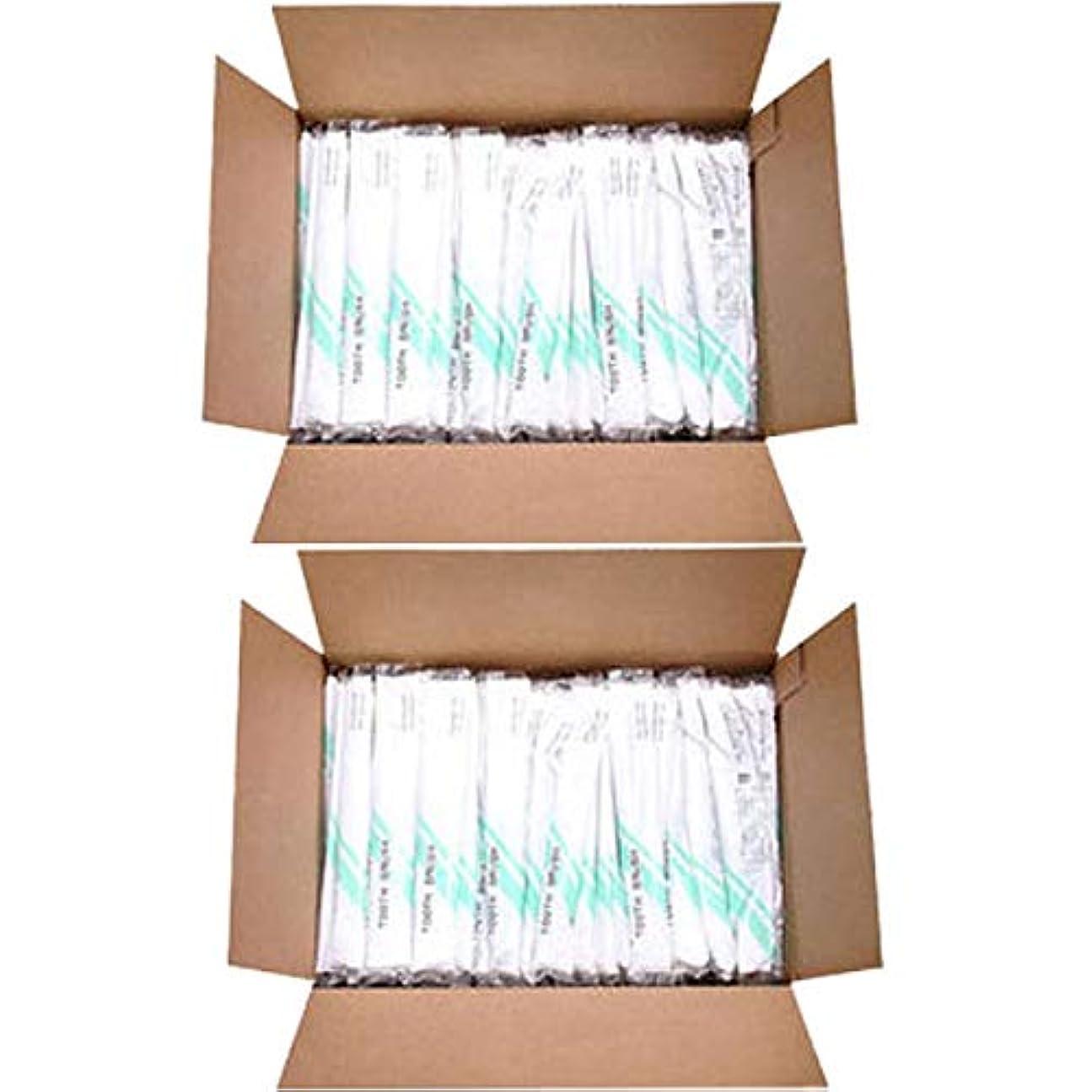 減るテント証拠使い捨て歯ブラシ (歯磨き粉付) 500本入 (2セット-1000本入) [ 使い捨て 歯ブラシ 歯ぶらし オーラルケア アメニティ ホテル 旅館 業務用 ]