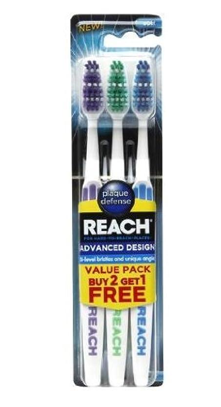 繁殖ボーダー兵器庫Dr. Fresh, LLC アドバンスデザインソフトバリューパック大人歯ブラシ、3カウントに達します