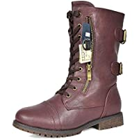 DREAM PAIRS Women's Winter Faux Fur Lining Combat Boot