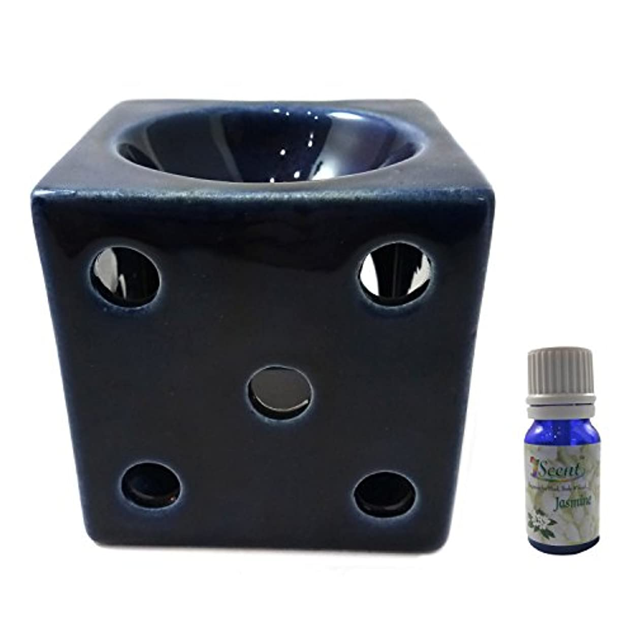 明確に元の手荷物家庭装飾定期的に使用する汚染されていない手作りセラミックエスニック電気アロマディフューザーオイルバーナージャスミンフレグランスオイル|良質ブラウン色電気アロマテラピー香油暖かい数量1