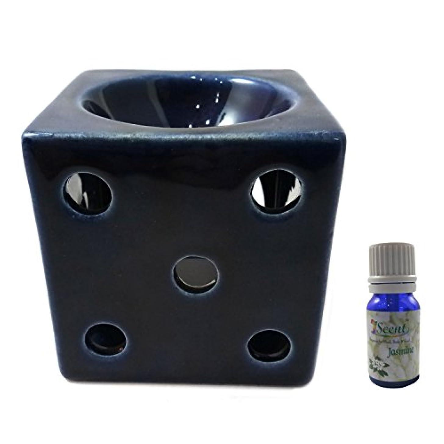 過敏な釈義代理人家庭装飾定期的に使用する汚染されていない手作りセラミックエスニック電気アロマディフューザーオイルバーナージャスミンフレグランスオイル|良質ブラウン色電気アロマテラピー香油暖かい数量1