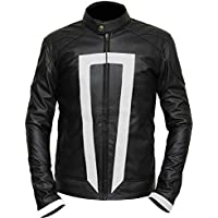 Men's Ghost Rider Agnets of Sheild Gabriel Luna Black Real Leather Jacket