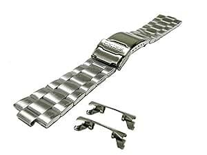 〔セイコー〕SEIKO 時計バンド 22mm ステンレスブレス バンド(ベルト) 海外モデル  SKX031KD , SKX033KD 純正 44G4JB