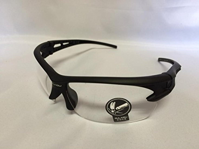 ウィザードゴミ露骨なAFROMARKET 割れないスポーツサングラス ランニング ゴルフ 野球 テニス 釣り 登山 自転車 ロードバイク サイクリング サバゲー UV400 防風 軽量