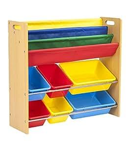 (OSJ)おもちゃボックス 本棚付 TOYBOX おもちゃ収納ラック【1年保証】(MY) (ナチュラル)