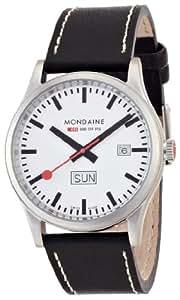 [モンディーン]MONDAINE [モンディーン]MONDAINE スポーツライン デイデイト ホワイトダイアル ブラックレザー A667.30308.16SBB メンズ 【正規輸入品】 A667.30308.16SBB  【正規輸入品】