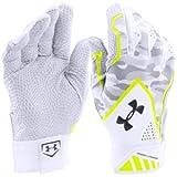 [在庫保有/海外限定 人気カラー] UNDER ARMOUR Yard Undeniable Baseball Batting Gloves (アンダーアーマー ヤード アンディナイアブル バッティング グローブ) (White/Grey/Yellow(白/灰/黄), S(23cm-24cm)) [並行輸入品]