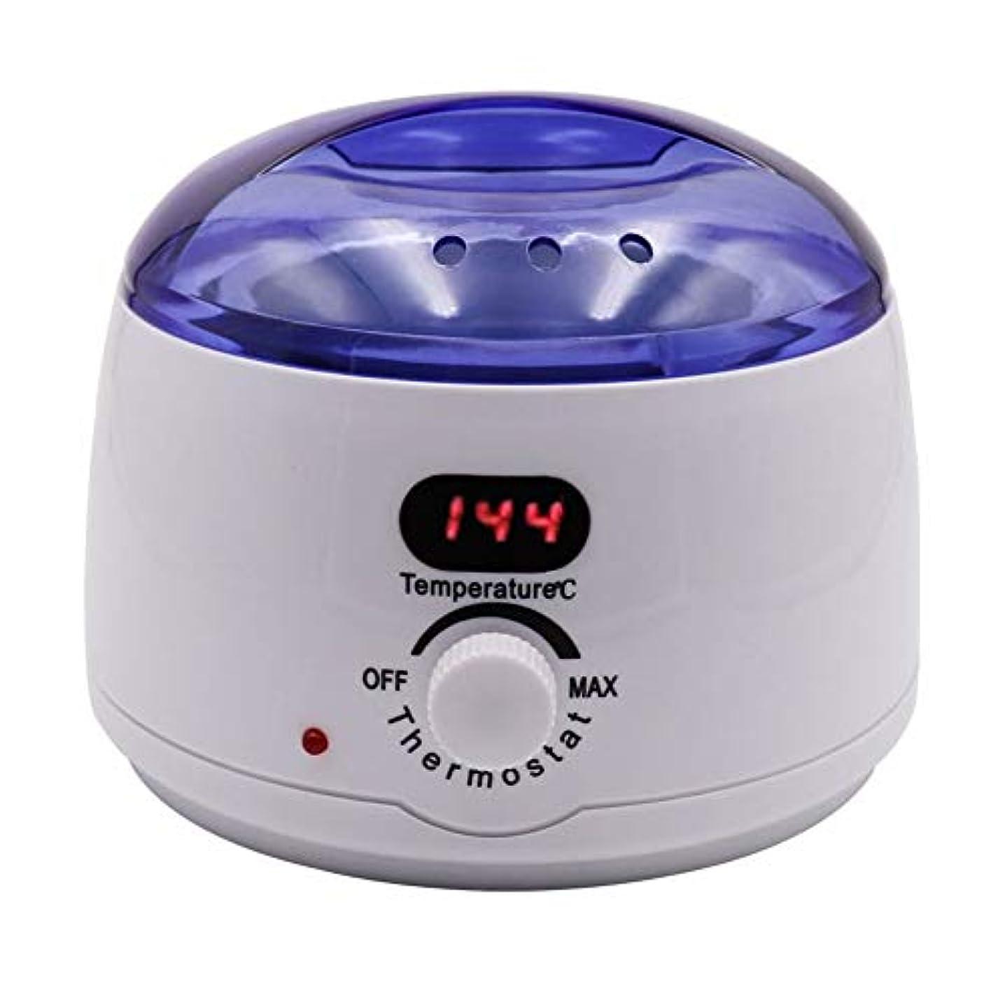バンサンダー縮れた脱毛、デジタル表示温度メルティングワックスポットインテリジェント加熱多機能ホームワックスマシン女性/男性500CCのための専門の電気ワックスウォーマーヒーターメルター